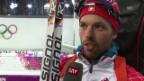 Video «Sotschi: Biathlon, Männer-Staffel, Interview mit Claudio Böckli» abspielen