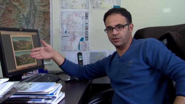 Video «FoEME-Umweltaktivist Mohammed Obidallah zum Vorstoss gegen die Mauer» abspielen