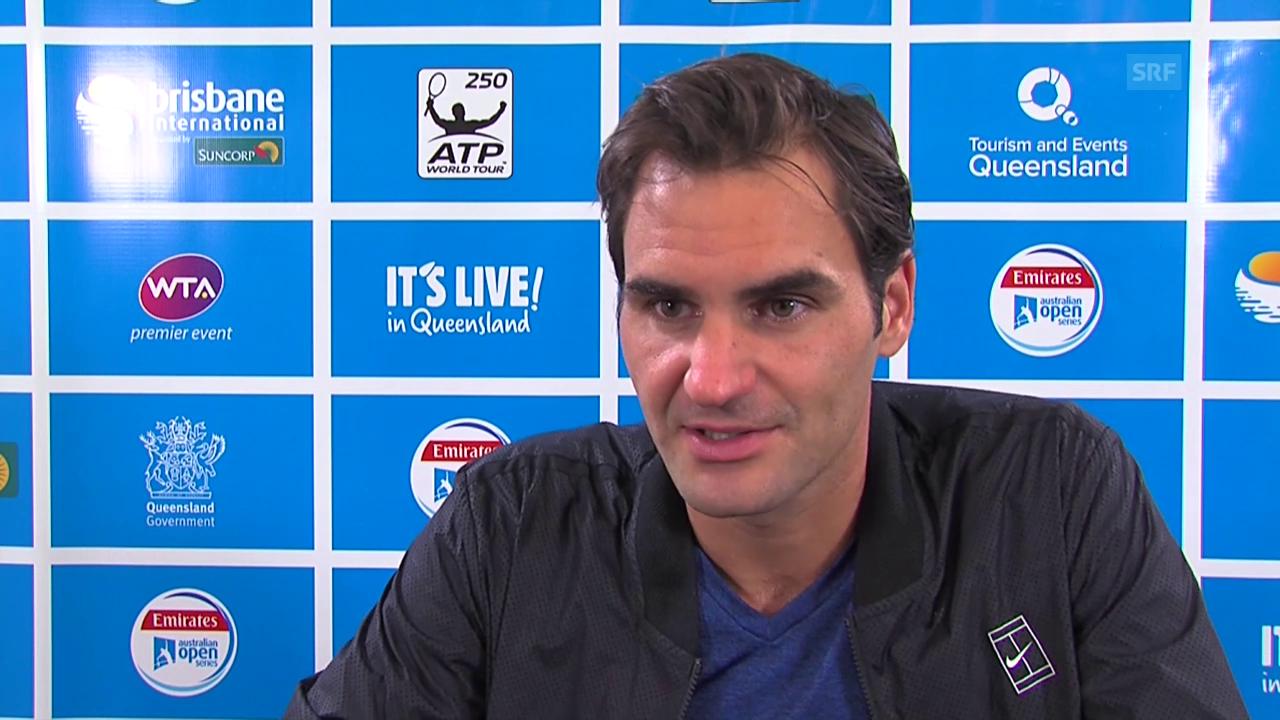 Federer zeigt sich trotz Niederlage im Brisbane-Final zufrieden