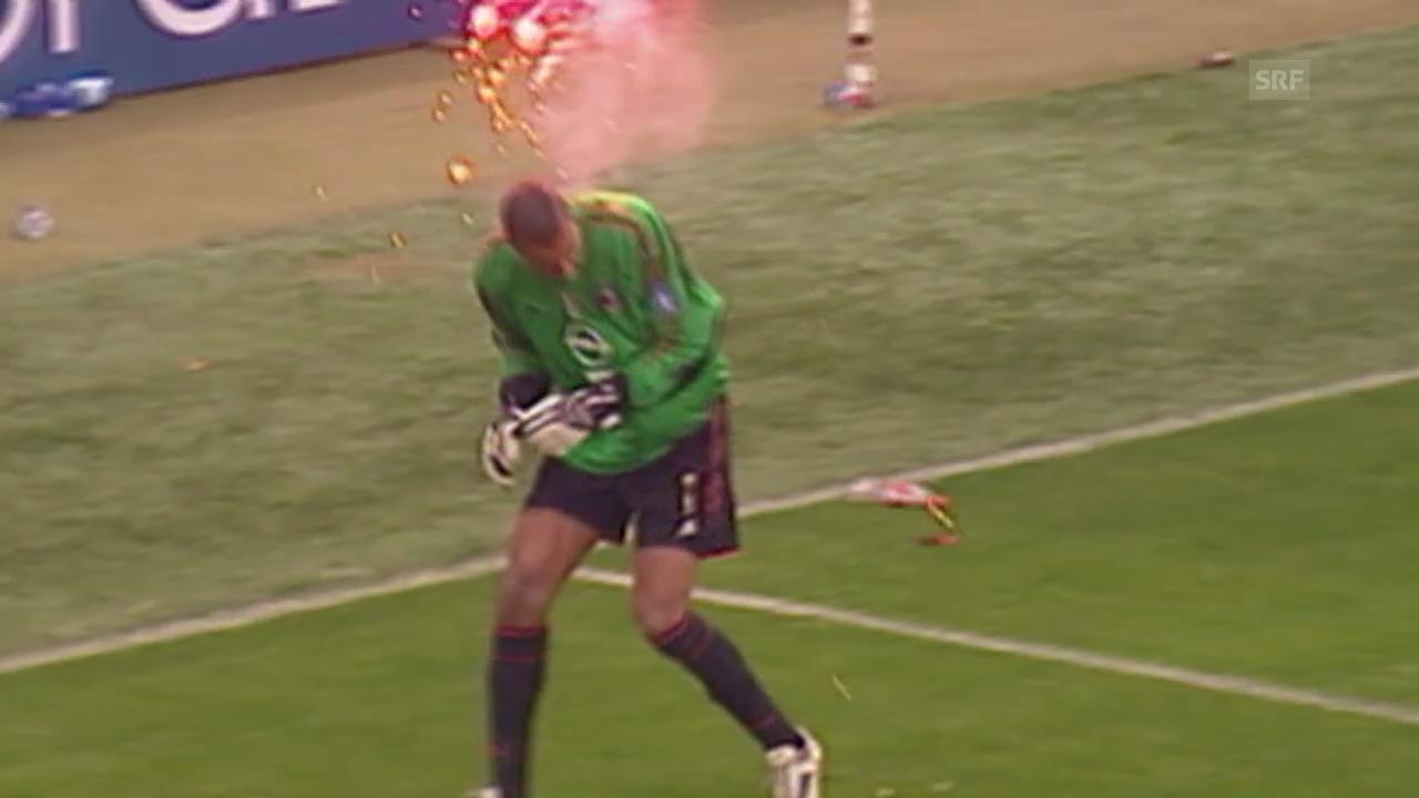 12.04.2005: Spielabbruch bei Inter-Milan