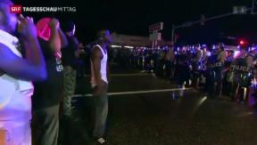 Video «Demonstration in Ferguson eskaliert» abspielen