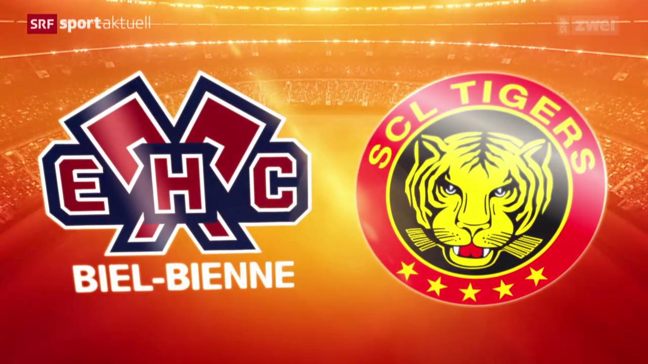 Eishockey: Biel - SCL Tigers