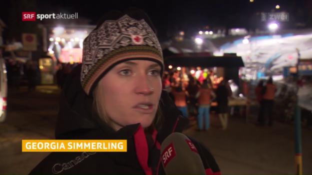 Video «Georgia Simmerling ist der neue Skicross-Star» abspielen