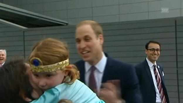 Video «Kleines Mädchen lässt Prinz William abblitzen» abspielen
