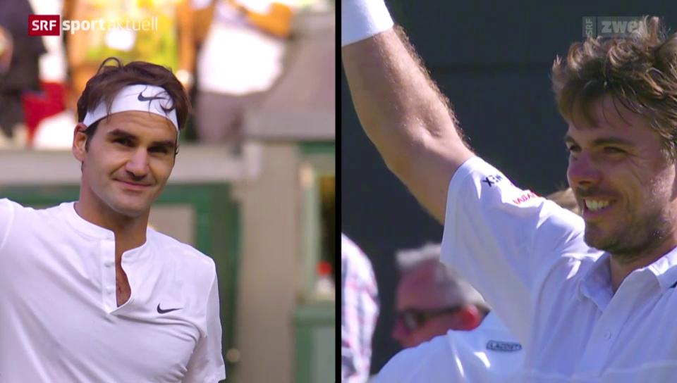 Der Schweizer «Manic Monday» in Wimbledon 2015