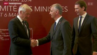 Video «EU-Aussenminister suchen nach Lösungen für Ukraine» abspielen