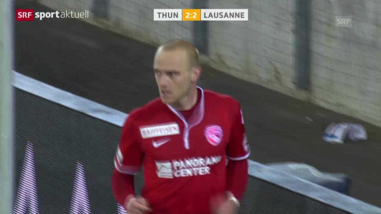 Fussball: Super League, Thun-Lausanne (15.3.2014)