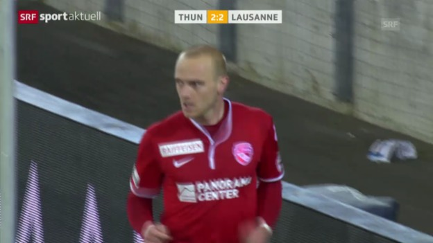 Video «Fussball: Super League, Thun-Lausanne (15.3.2014)» abspielen