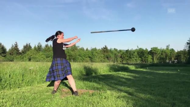 Video «Premiere: Solothurnerin trainiert für Highland Games» abspielen