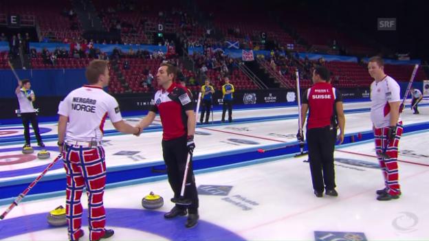Video «Enttäuschung für Schweizer Curler an Heim-WM» abspielen