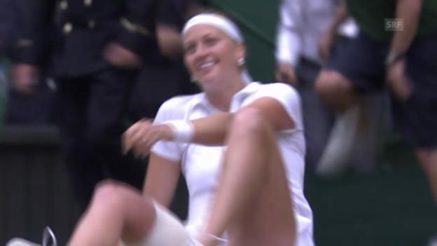 Video «Final Kvitova - Bouchard: Die entscheidenden Bälle» abspielen