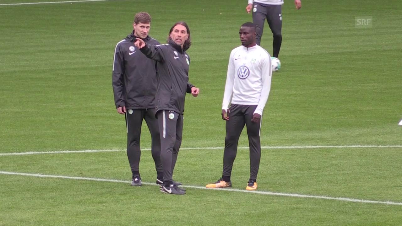 Impressionen aus Schmidts 1. Training in Wolfsburg