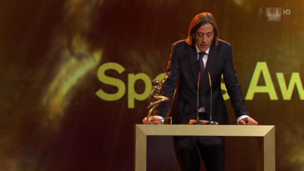 Video «Sports Awards: Die Laudatio von Pedro Lenz» abspielen