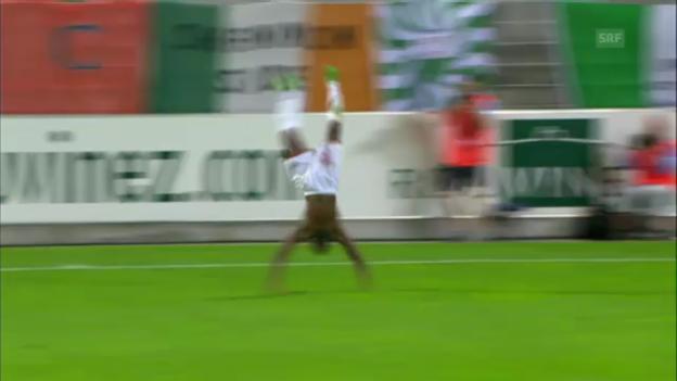 Video «Giovanni Sio: Tore, Überschläge und ein mieser Penalty» abspielen