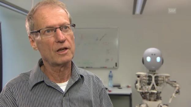 Video «Professor Rolf Pfeifer über Industrieroboter» abspielen