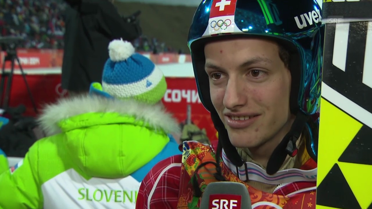 Skispringen: Qualifikation Grossschanze, Interview mit Gregor Deschwanden (sotschi direkt, 14.02.2014)