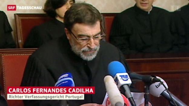 Video «Portugals Sparbudget teils verfassungswidrig» abspielen