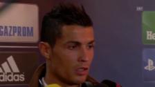 Video «Fussball: Champions League, Real Madrid - Malmö, Ronaldo über seinen Rekord» abspielen