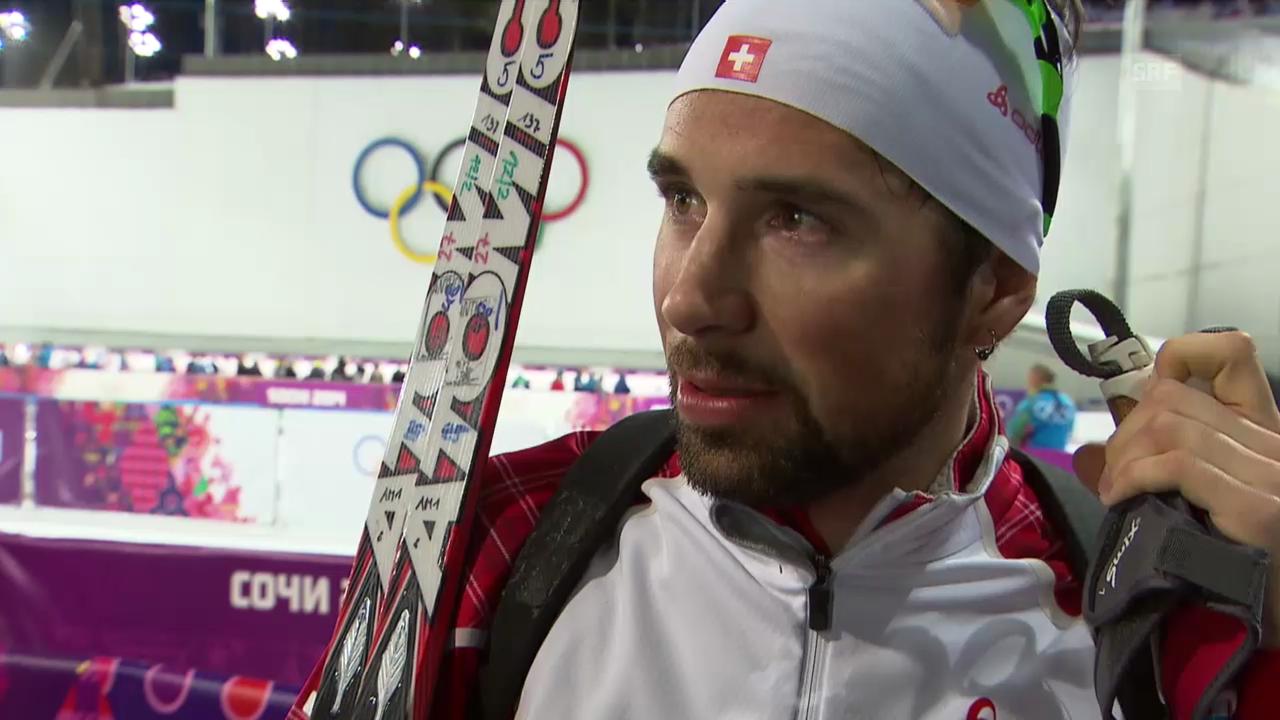 Biathlon, 20 km Einzel: Interview mit Benjamin Weger (Sotschi direkt, 13.2.2014)