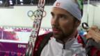 Video «Biathlon, 20 km Einzel: Interview mit Benjamin Weger (Sotschi direkt, 13.2.2014)» abspielen
