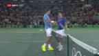 Video «Del Potro zerstört Djokovics Gold-Träume» abspielen