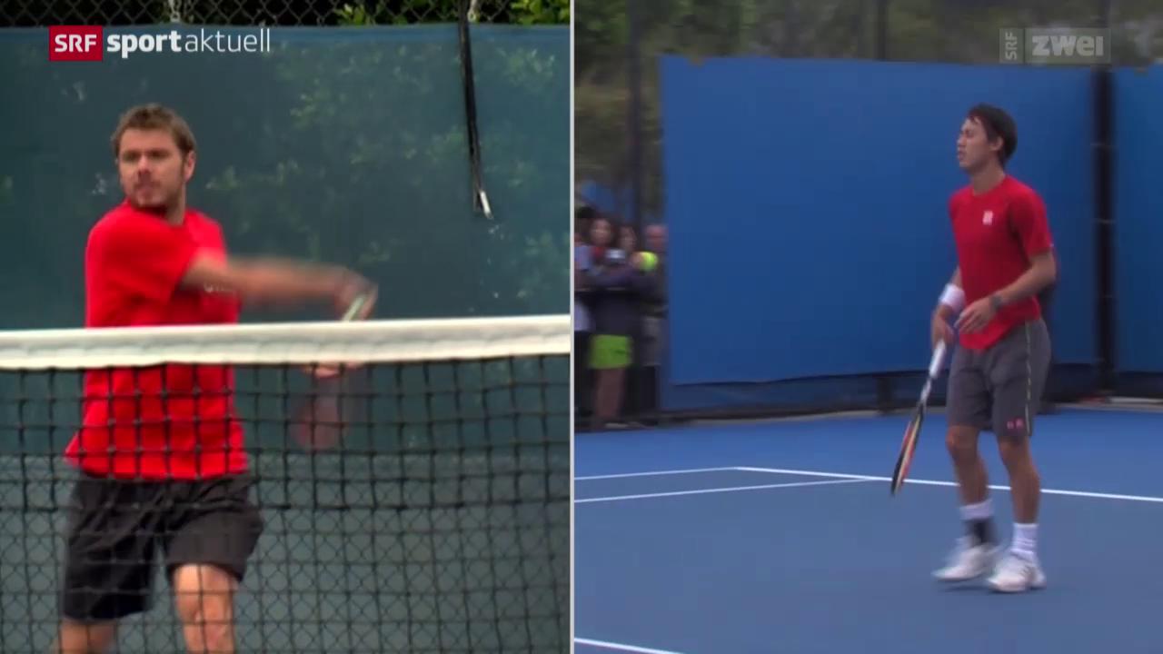 Tennis: Wawrinka vor dem Viertelfinal gegen Nishikori