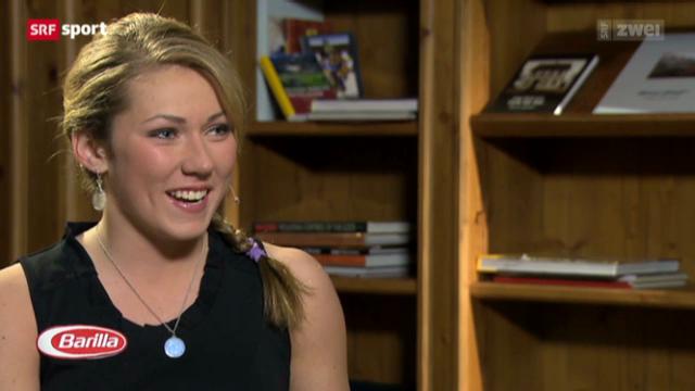 Slalomweltmeisterin Mikaela Shiffrin im Gespräch