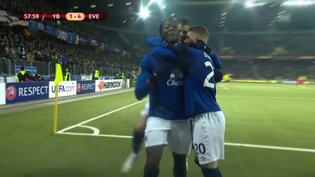 Video «Fussball: Europa League, 1/16-Final YB-Everton, Aktionen Lukaku» abspielen