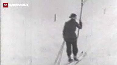 Der erste Skilift vom Bolgenhang in Davos