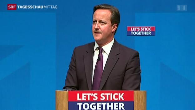 Video «Cameron will Schotten umstimmen» abspielen