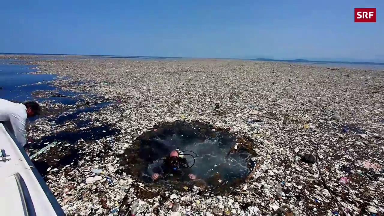 Krasse Meeresverschmutzung im Taucherparadies