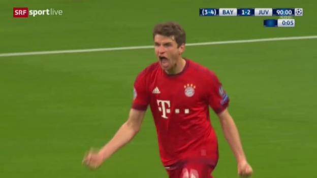 Video «Thomas Müller köpfelt die Bayern in die Verlängerung» abspielen