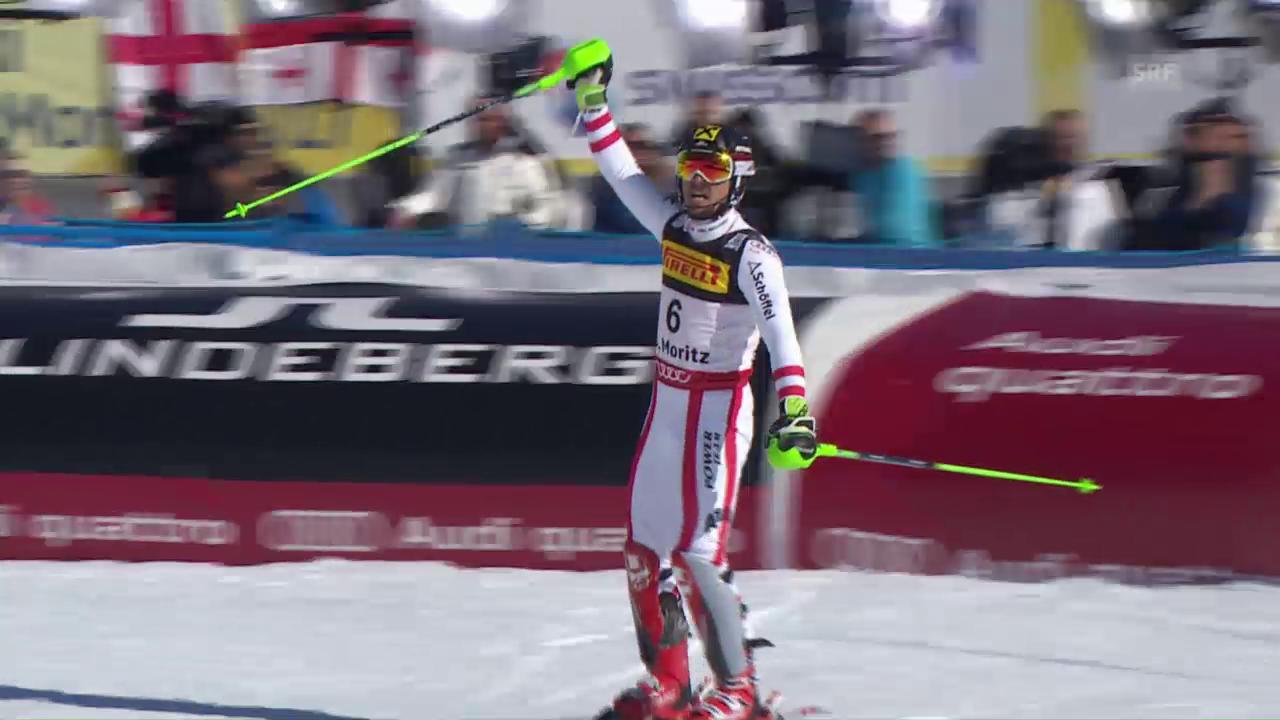 Die Goldfahrt von Marcel Hirscher im Slalom