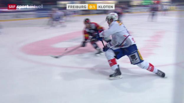 Video «Eishockey: Freiburg - Kloten» abspielen