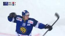 Video «Eishockey: Spengler Cup, Jokerit - Davos, 5:4 durch Sciaroni» abspielen