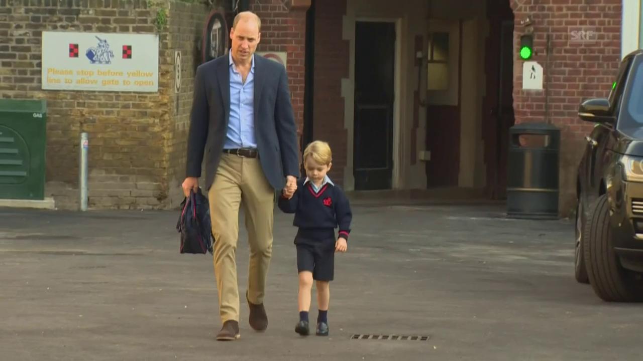 Prinz Georges erster Schultag