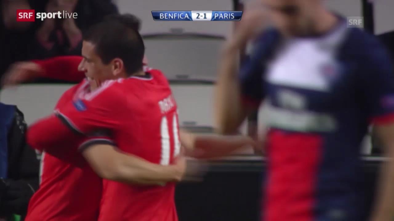 Fussball: Champions League, Benfica Lissabon - Paris St-Germain («sportlive», 10.12.2013)