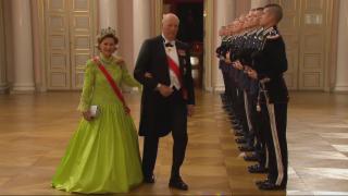 Video «König Harald von Norwegen: Glamouröse Feier zum Achtzigsten» abspielen