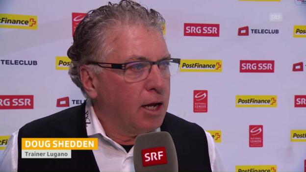 Video «Doug Shedden steht nach dem Spiel Red und Antwort» abspielen