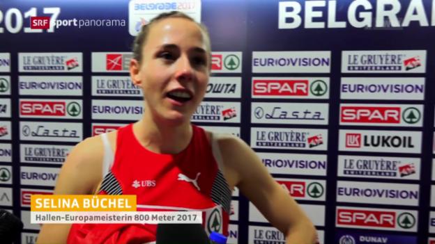 Video «Büchel erneut 800-m-Indoor-Europameisterin» abspielen