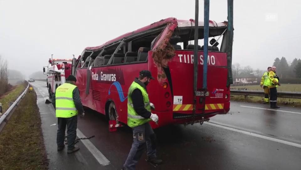 Frankreich Busunfall