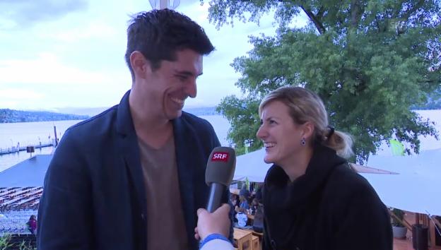 Video «So hats gefunkt: Franco Marvulli und Eva Breitenstein» abspielen