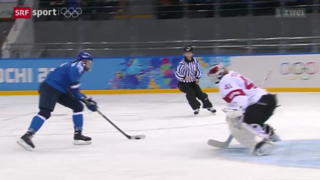Video «Eishockey: Schweizerinnen verlieren gegen Finnland» abspielen