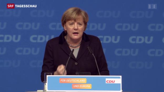 Video «Merkel überzeugt ihre Partei» abspielen