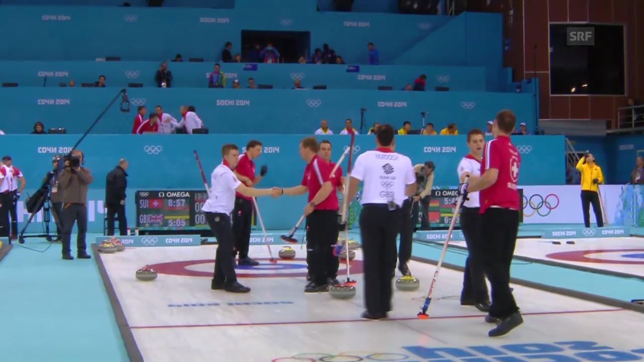Curling: Zusammenfassung Schweiz - Grossbritannien (12.02.2014)