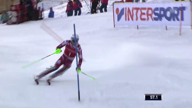 Video «Ski alpin: Weltcup, Slalom Val d'Isere, Schlussphase» abspielen