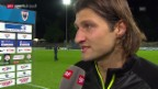 Video «Fussball: Nach Aarau-GC, Interview Salatic» abspielen