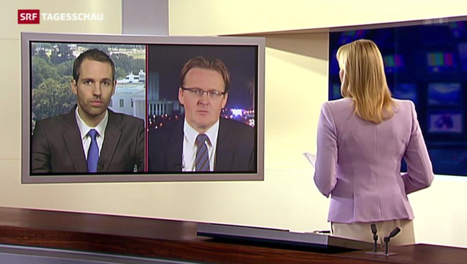 USA-Korrespondent Arthur Honegger und Russland-Korrespondent Christof Franzen im Gespräch