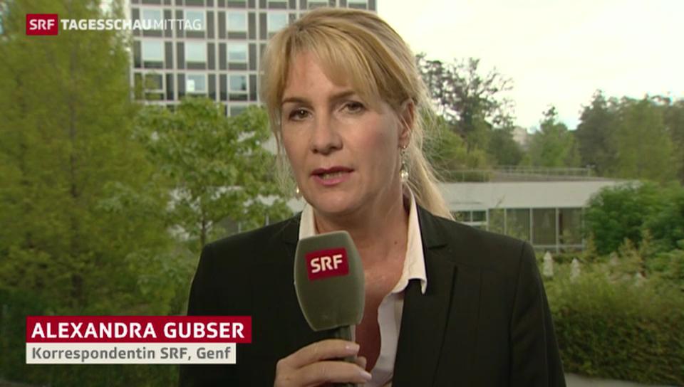 SRF-Korrespondentin Alexandra Gubser zum Kerry-Lawrow-Treffen