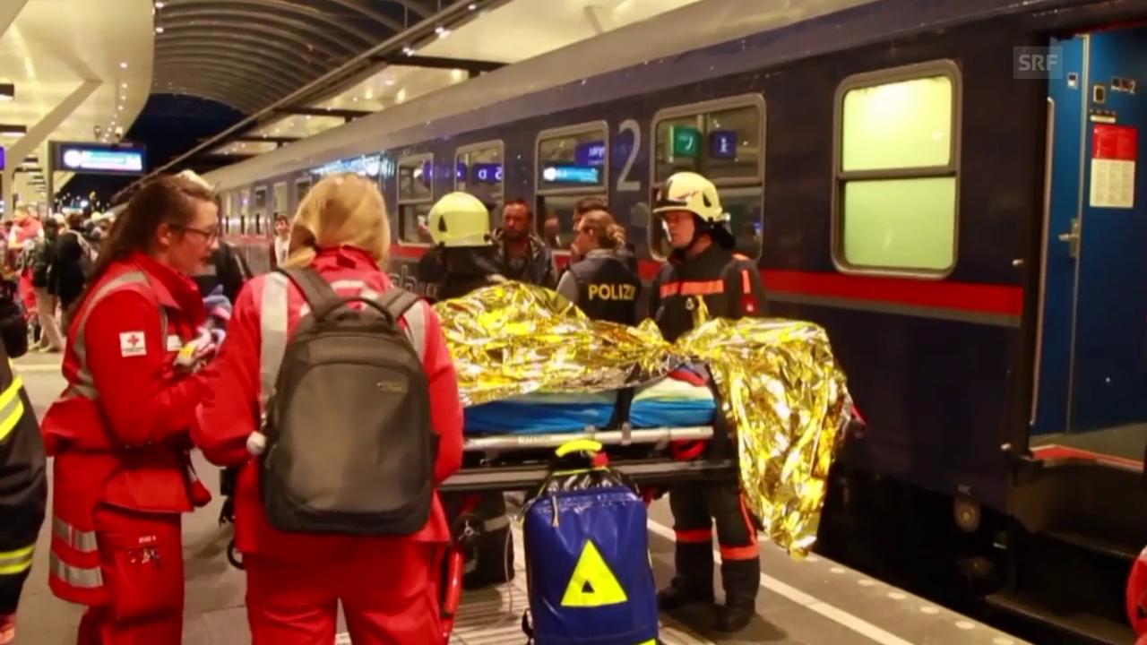 Impressionen vom Zugunglück in Salzburg (unkommentiert)